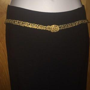 Skinny Gold Wire Wrap Belt